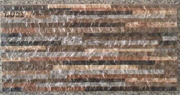 Villa Glazed 200 X 400 Wall Tiles , Fireplace Stone Wall Tiles Heat Resistance