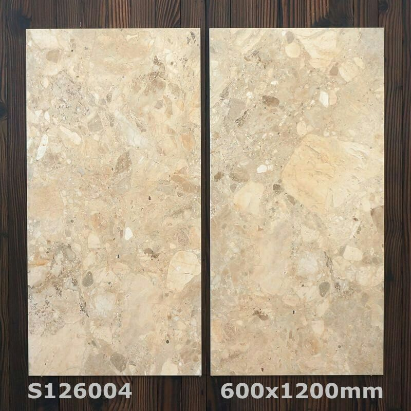 600x1200MM Modern Stone Marble Design Cheap Price Inside Floor Mixed Pattern Washroom Wall